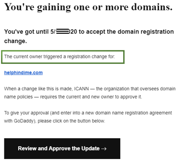 gaining one or more domains approve mail from godaddy sample